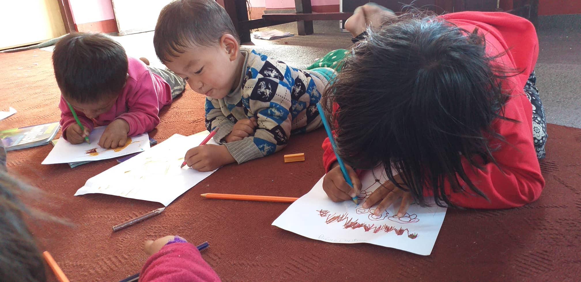 De kinderen in het TSAMKHANG HOME